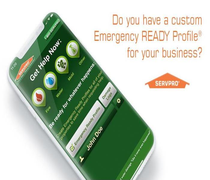 smart phone with SERVPRO Ready App loaded on the screen